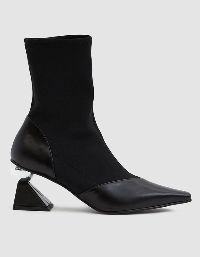 Silver Heel Sock Boots