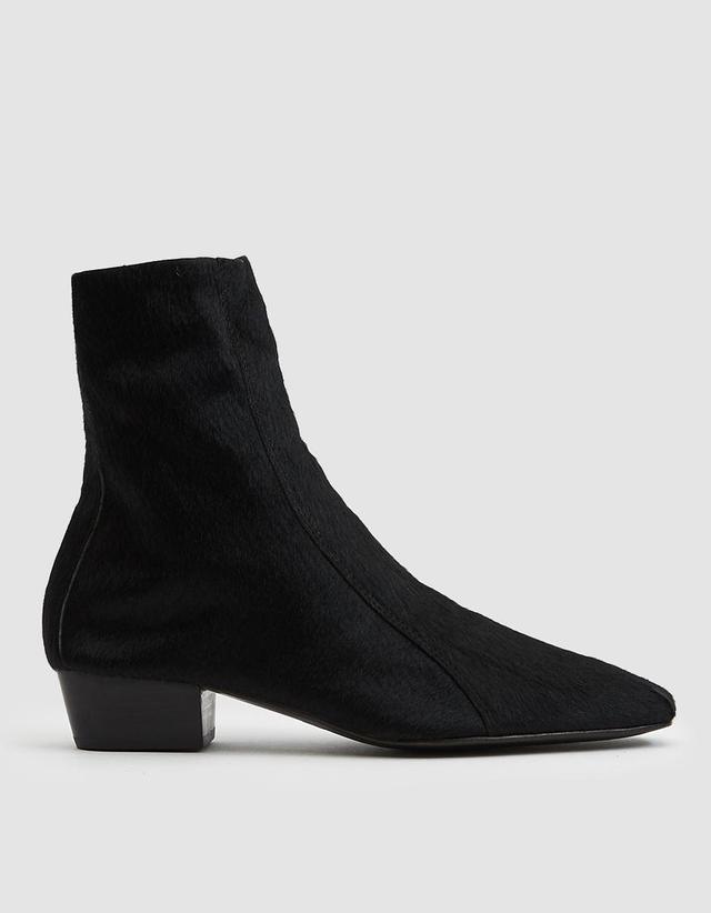 Cove Calf Hair Boots in Black