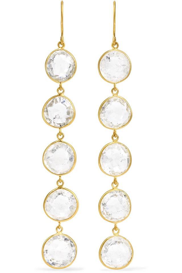 18-Karat Gold Crystal Earrings