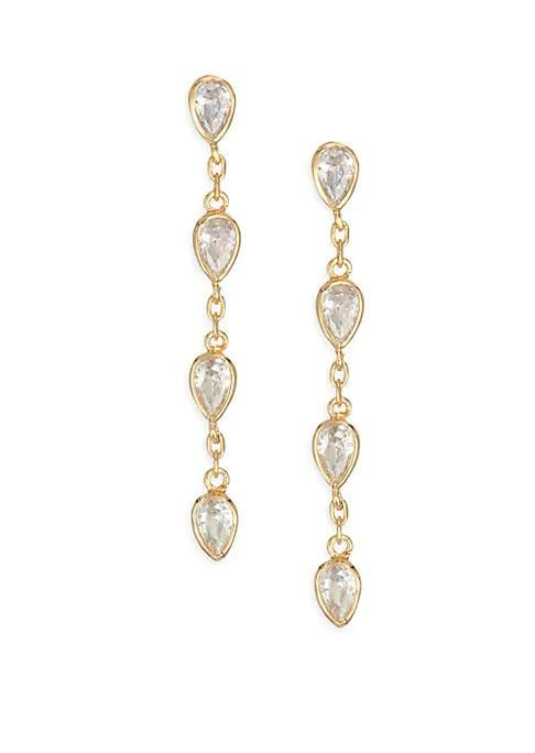Raindrop Crystal Drop Earrings