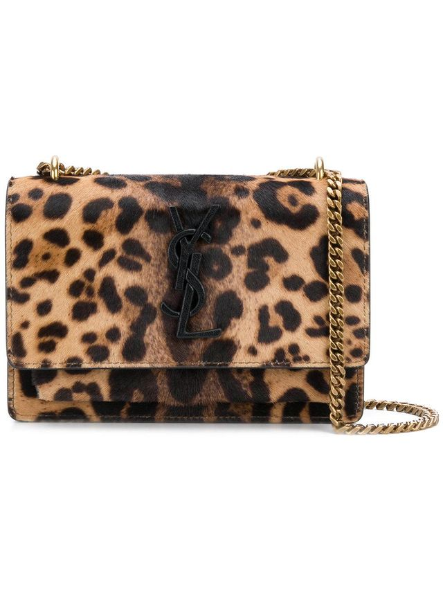 leopard print Sunset chain wallet