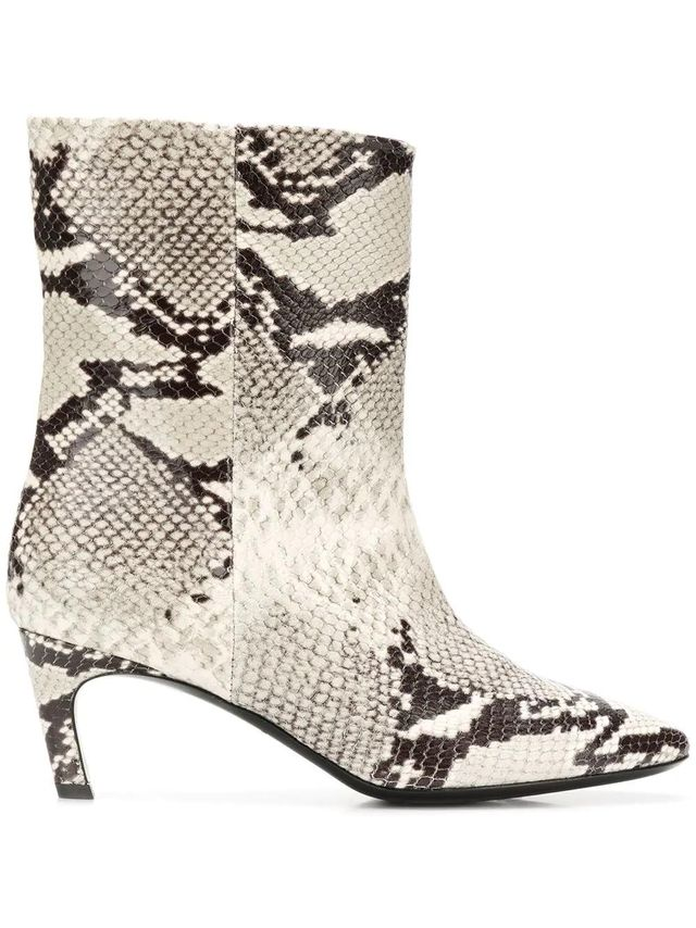 snakeskin effect boots
