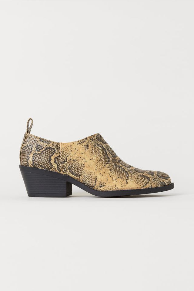 H&M Snakeskin-Patterned Boots