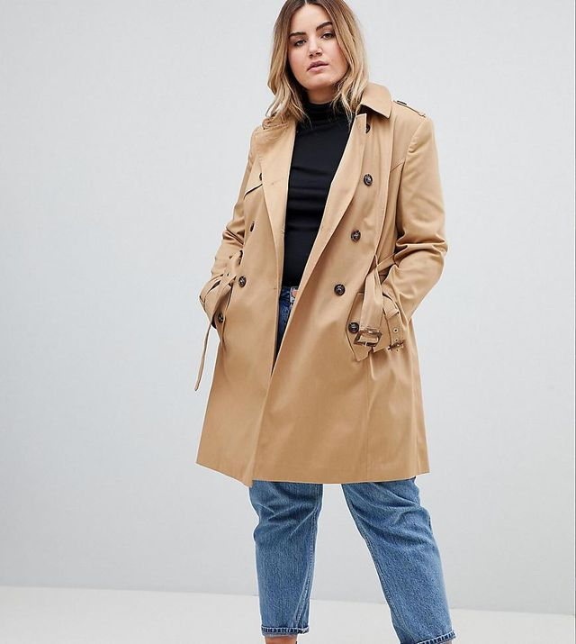 ASOS DESIGN Curve Classic Trench Coat