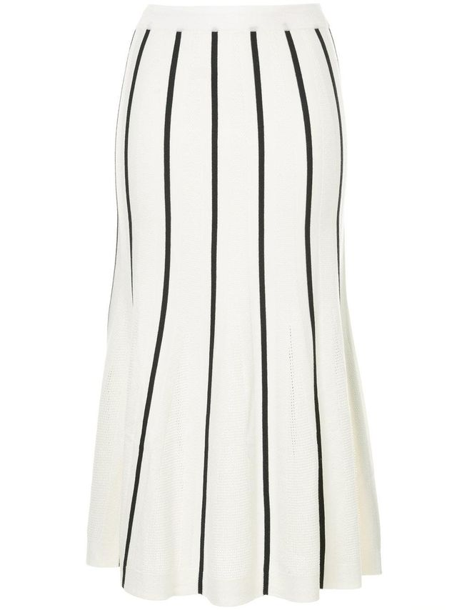 flared striped skirt