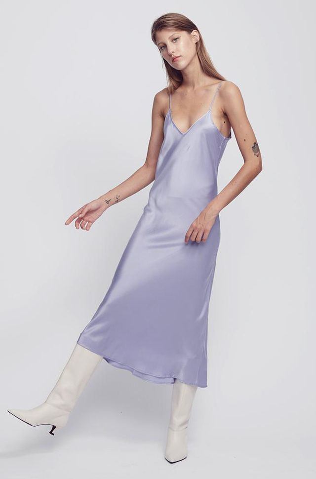 Silk Laundry '90s Silk Slip Dress