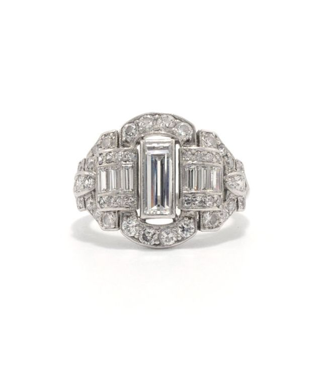 Ashley Zhang Lillie Art Deco Engagement Ring