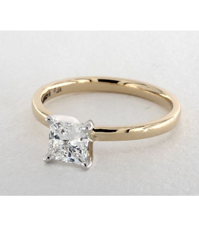 James Allen 1-Carat Princess Cut Solitaire Engagement Ring in 14K Gold