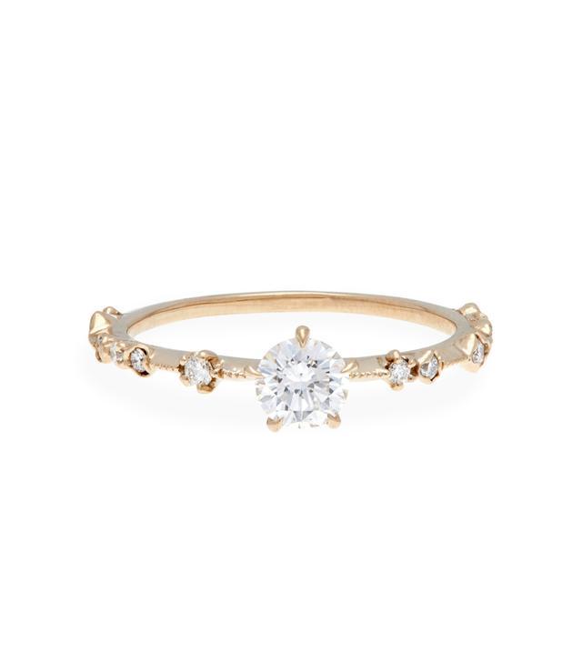 Kataoka New Moon Diamond Solitaire Ring