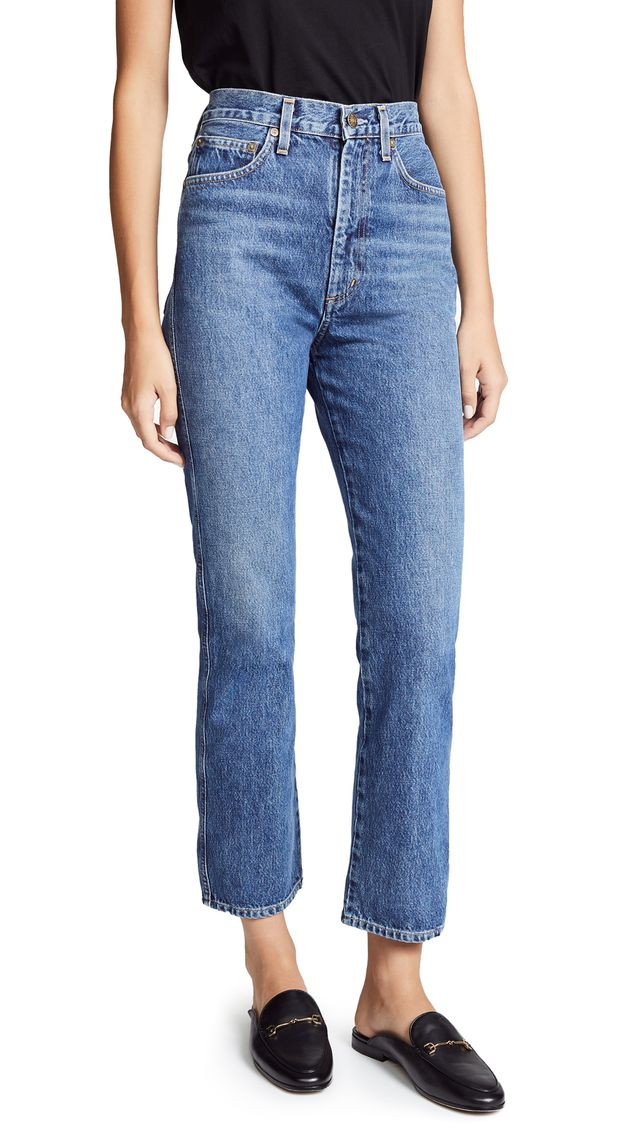 Pinch Waist High Rise Kick Jeans