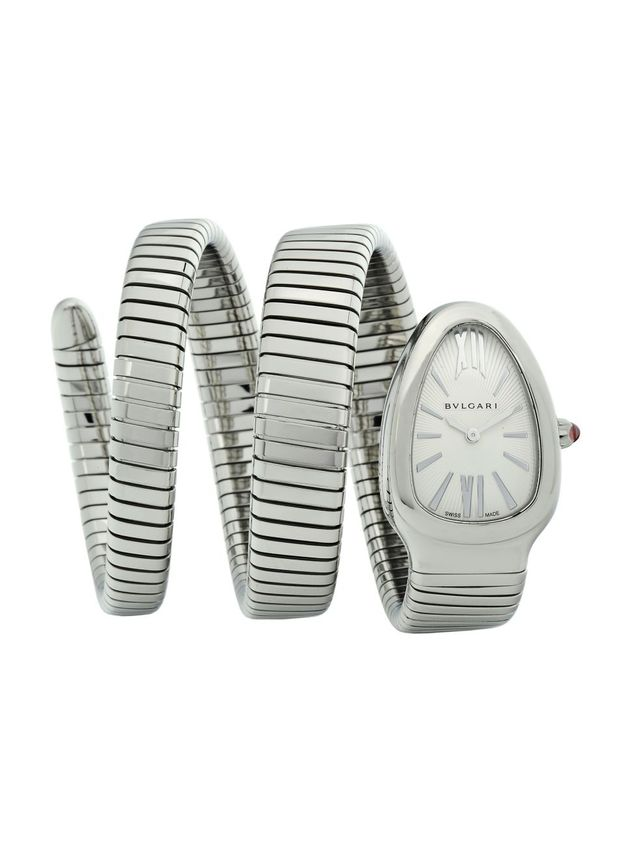 Bulgari Serpenti Tubogas Stainless Steel Double Twist Watch
