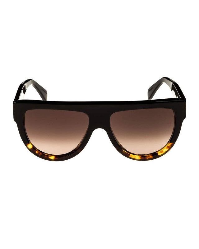 Celine Flattop Two-Tone Shield Sunglasses