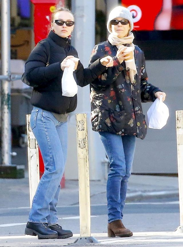 Lily-Rose Depp and Vanessa Paradis winter outfit