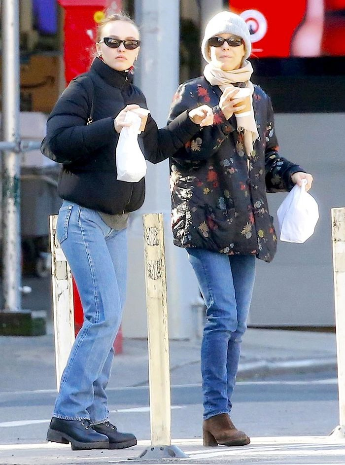 Lily-Rose Depp and Her Mom Matched in the Ideal Jeans-and-Boots Outfit