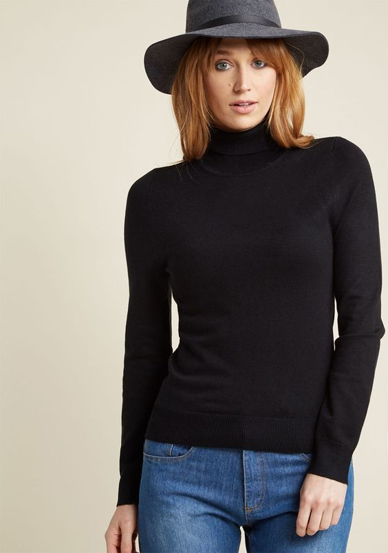 15 Black Turtleneck Outfits Who What Wear
