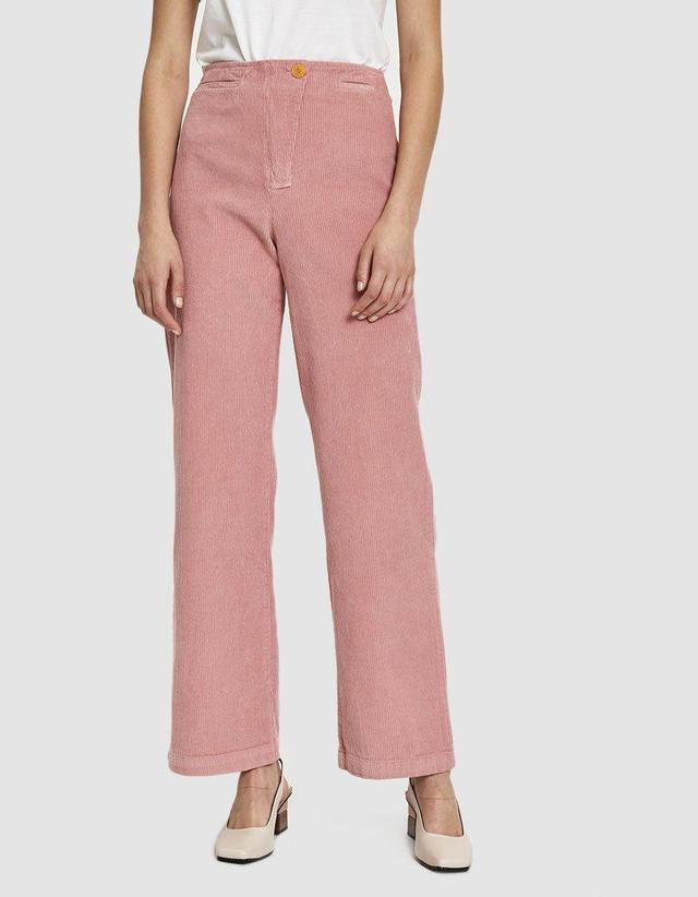 Clara Corduroy Pant in Intense Pink