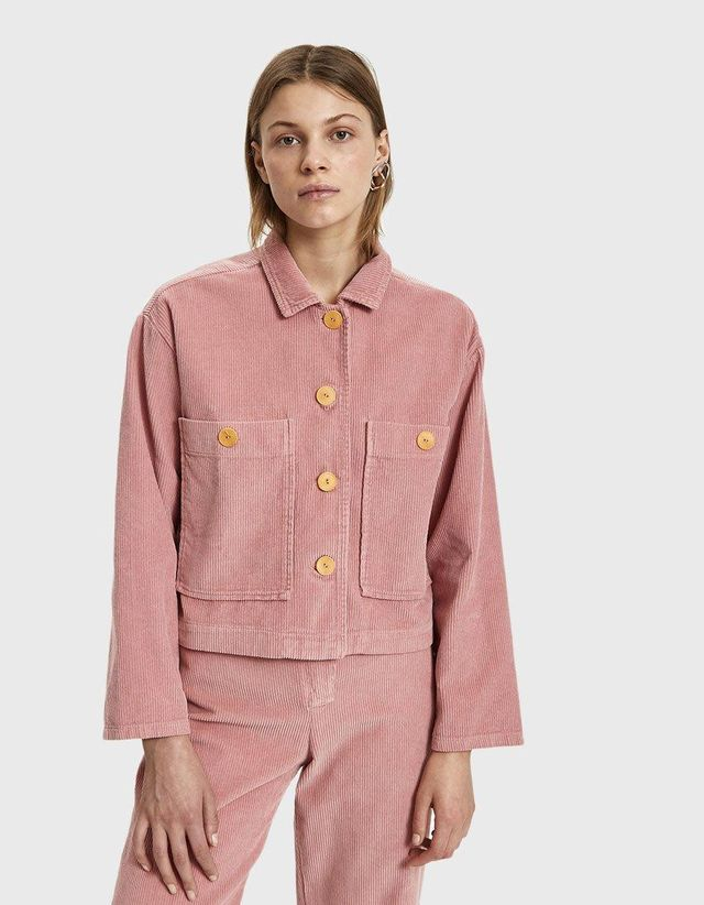 Dori Corduroy Jacket in Intense Pink