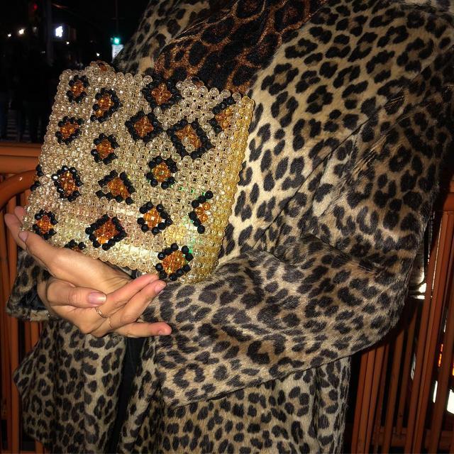French handbag wardrobe: beaded bag
