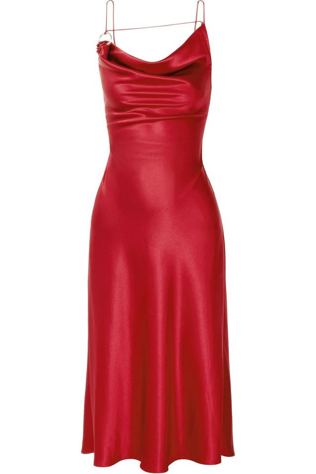 Ruby Draped Silk-charmeuse Dress