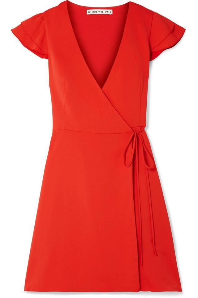 Doralee Crepe Wrap Dress