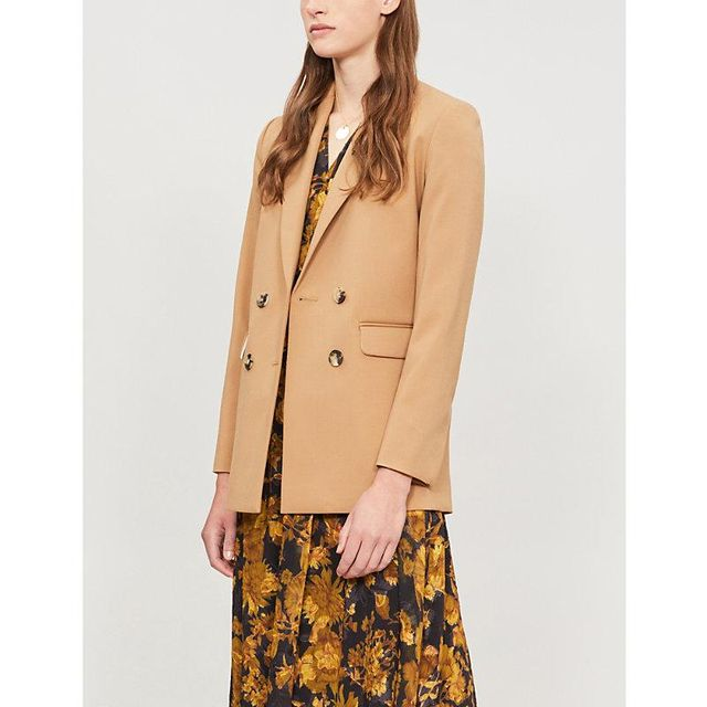 Roby double-breasted woven blazer