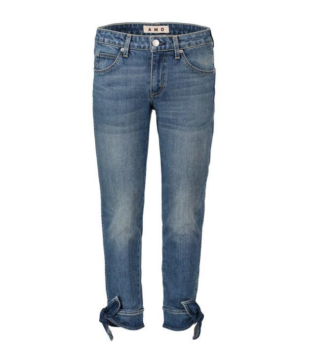 AMO Denim Tie Ankle Jeans