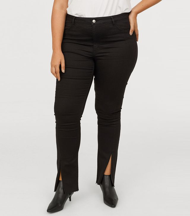 H&M+ Twill Pants With Slits