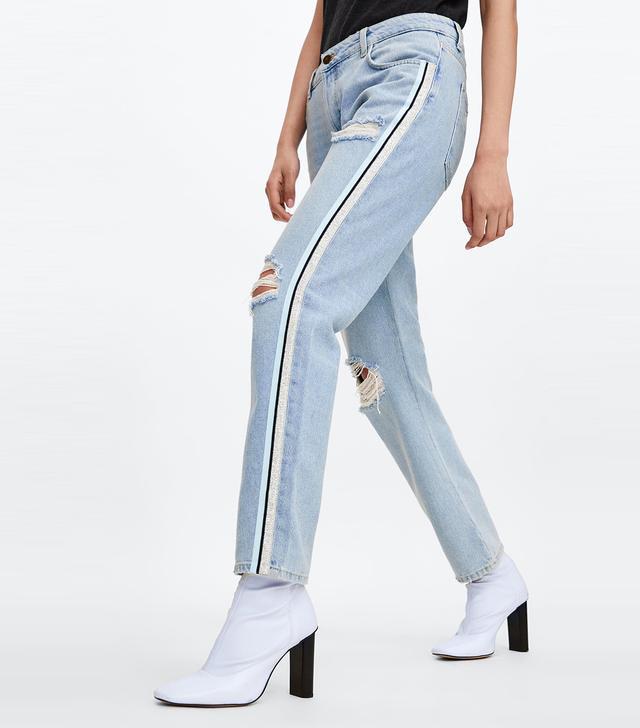 Zara Side Stripe Jeans Z1975