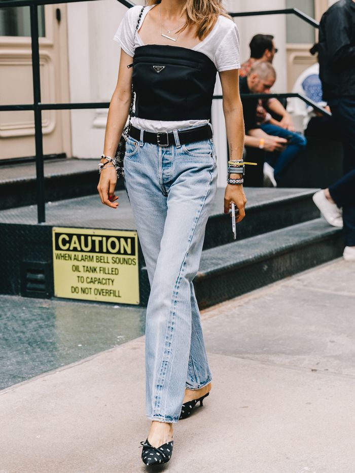 4aaebcd287eb The Only 6 Denim Trends You ll Care About in 2019