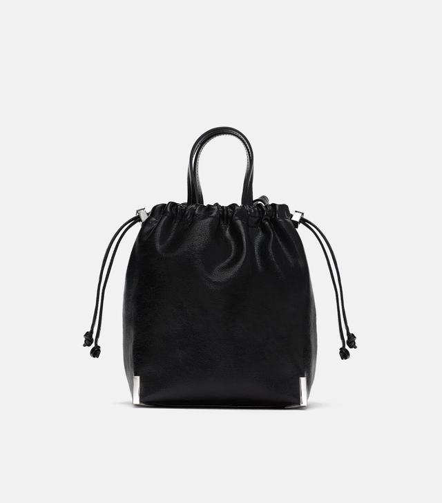 Zara Gathered Top Bucket Bag