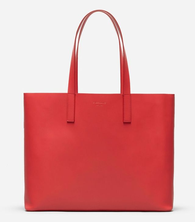 Women's Day Market Tote Bag by Everlane in Red