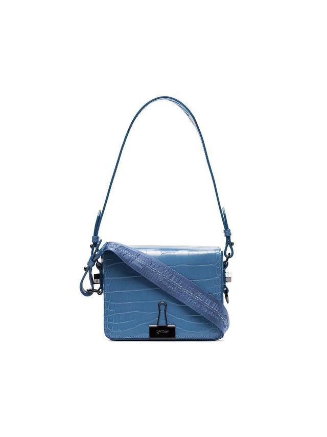 Blue Cocco Leather Shoulder Bag