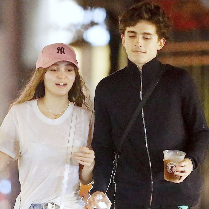 Lily-Rose Depp and Timothée Chalamet on a Date Night | Who