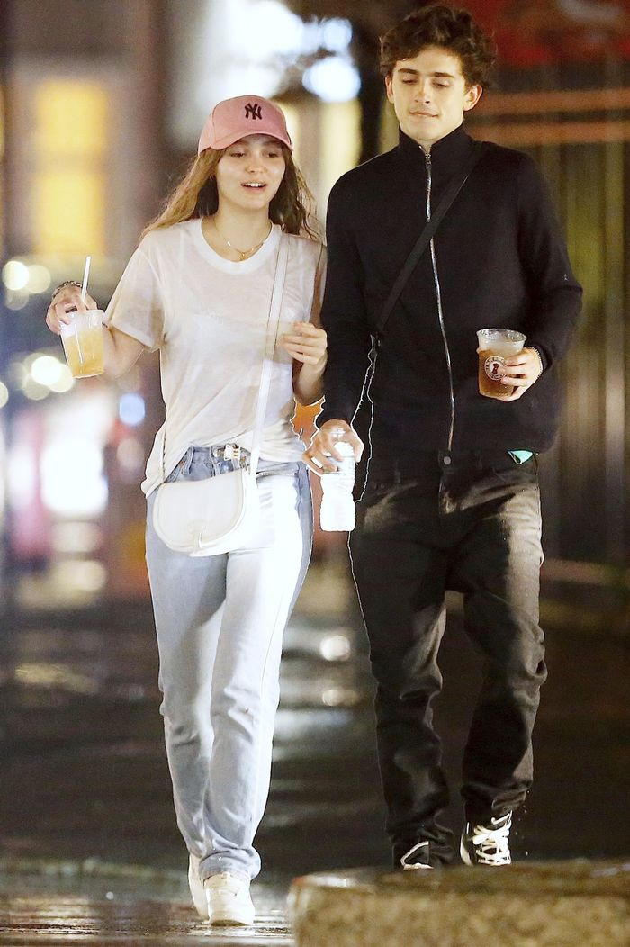 8826ad78414d Lily-Rose Depp and Timothée Chalamet on a Date Night