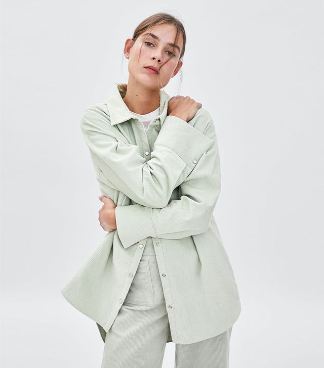 Zara Oversized Corduroy Shirt