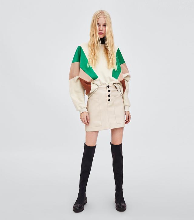 Zara Color-Blocked Sweatshirt