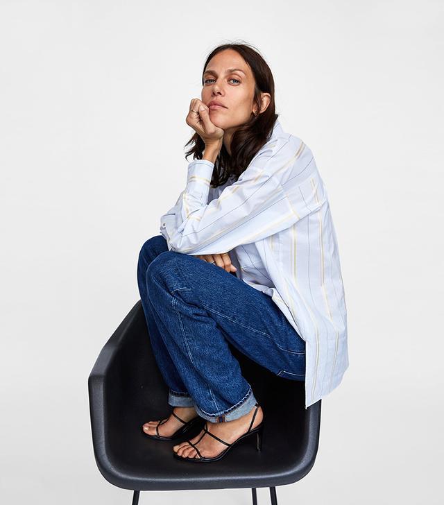 Zara Oversized Stripe Shirt