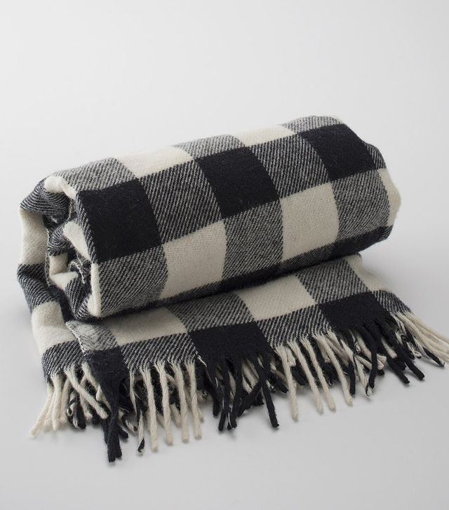 Schoolhouse Buffalo Plaid Fringed Throw