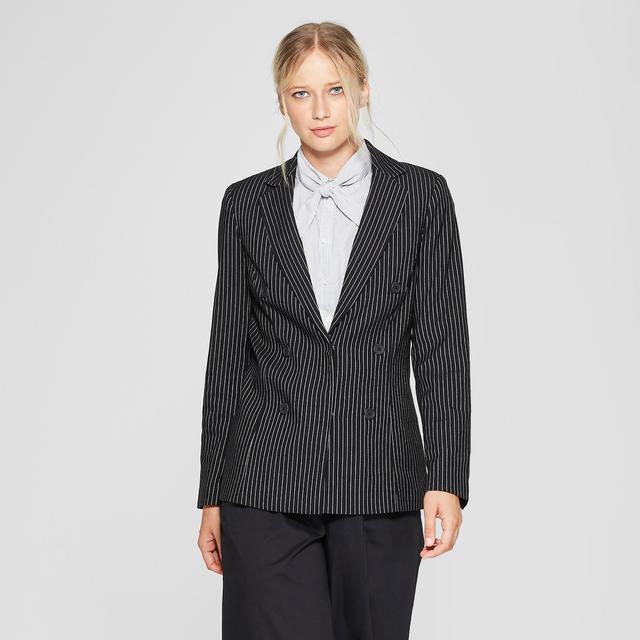 Who What Wear Striped Classic Blazer
