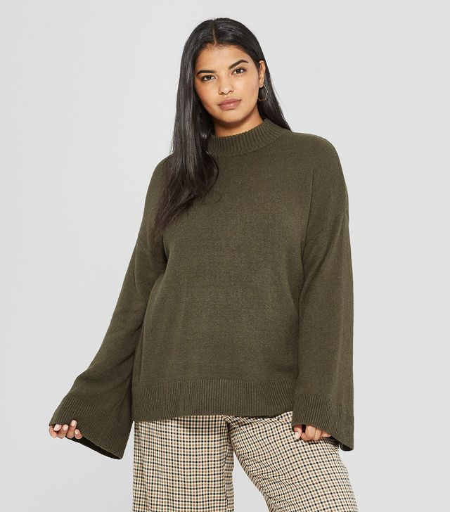 Long Wide Sleeve Pullover Sweater