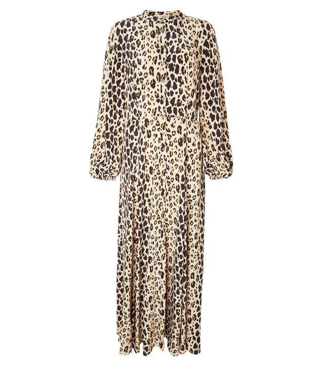 Somerset by Alice Temperley Leopard-Print Maxi Dress in Multi