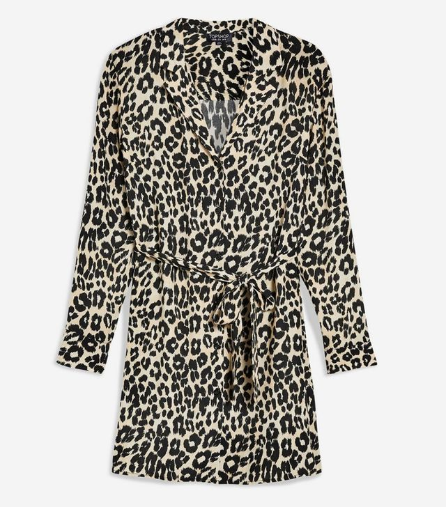 Topshop Animal-Print Pyjama Shirtdress