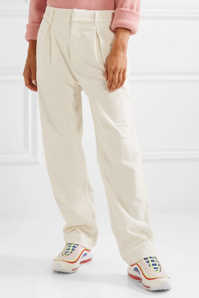 Ridgewood Cotton-Blend Corduroy Wide-Leg Pants