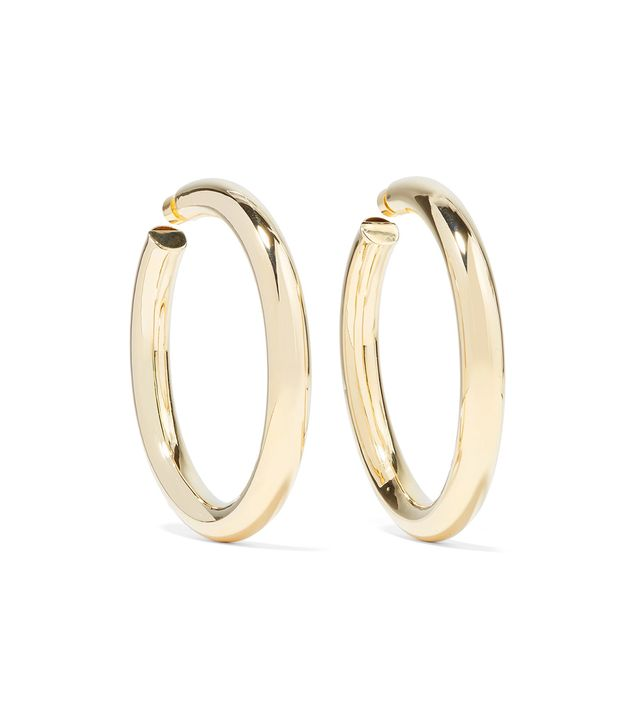 Mamma Jamma Gold-plated Hoop Earrings