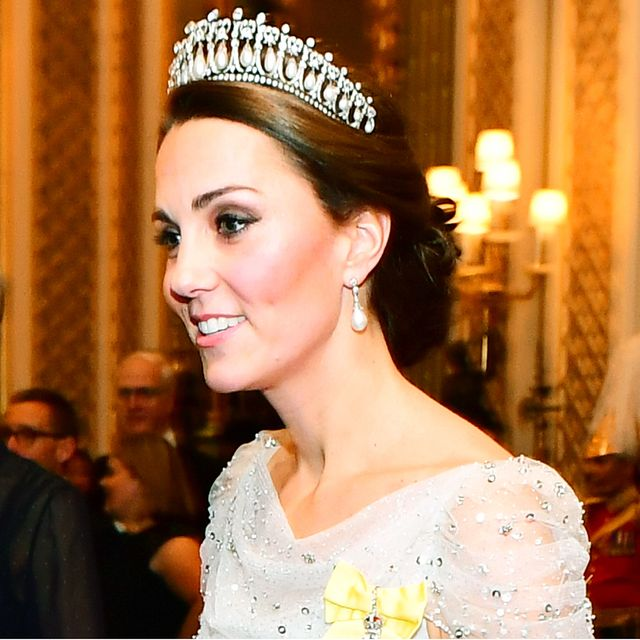 Kate Middleton Wore Princess Diana's Tiara With a Fanciful White-Tie Gown