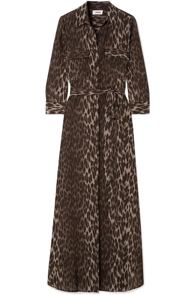 Cameron Leopard-Print Silk Crepe de Chine Maxi Dress