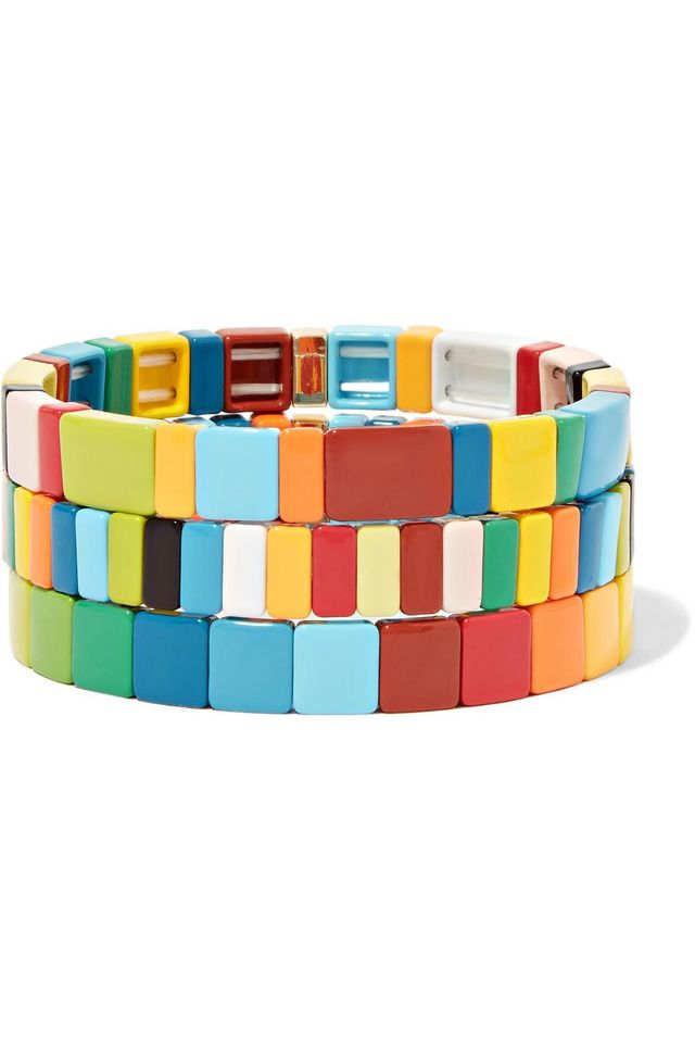 Rainbow Brite Set Of Three Enamel Bracelets