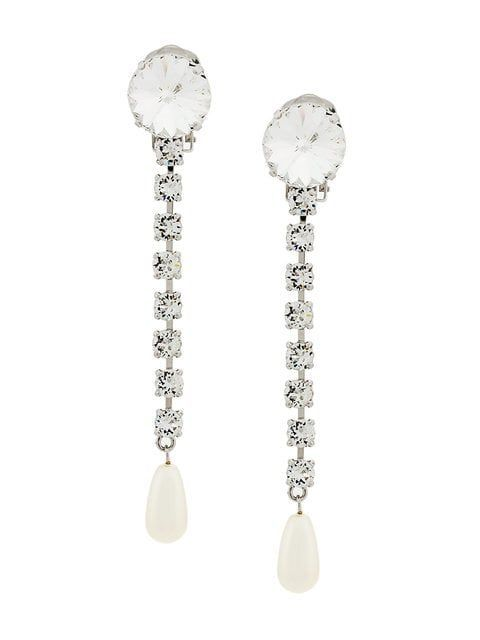 Maternity Holiday Dresses with Crystal pearl drop earrings