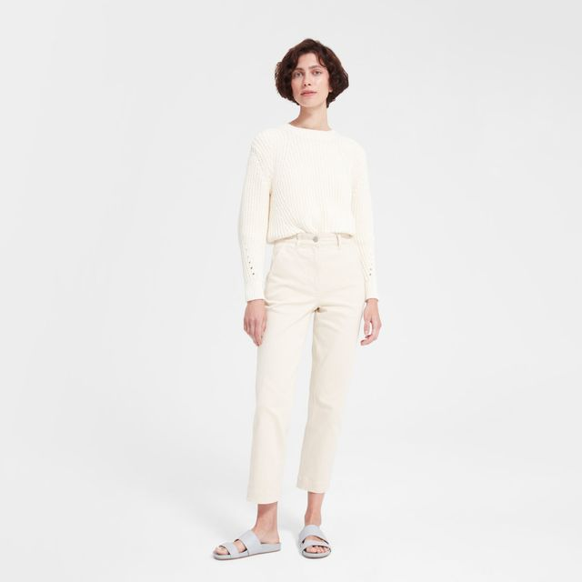 how to build a modest capsule wardrobe with a straight leg pant