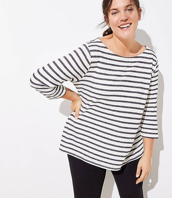 how to build a modest capsule wardrobe with a stripe top